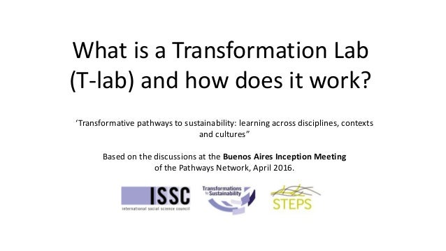 What is a Transformation Lab (T-lab) and how does it work? 'Transformative pathways to sustainability: learning across dis...