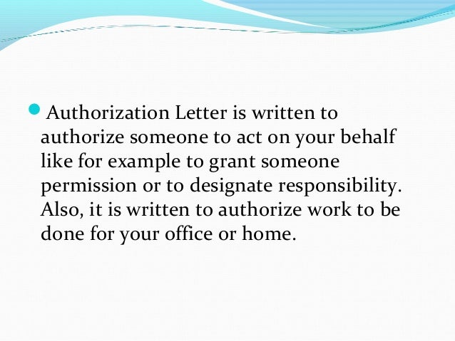 Authorization letter sample 2 altavistaventures Gallery