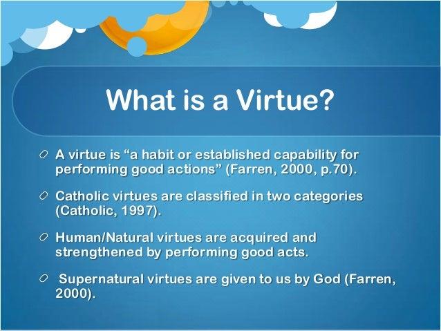 Natural virtues