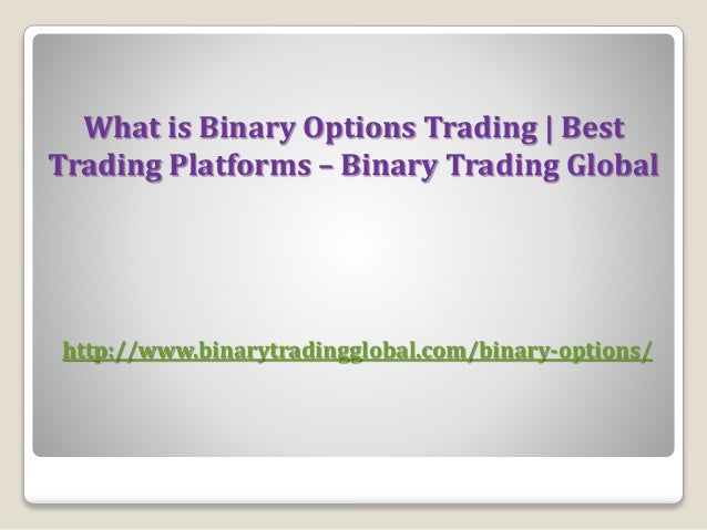 What is a binary options broker