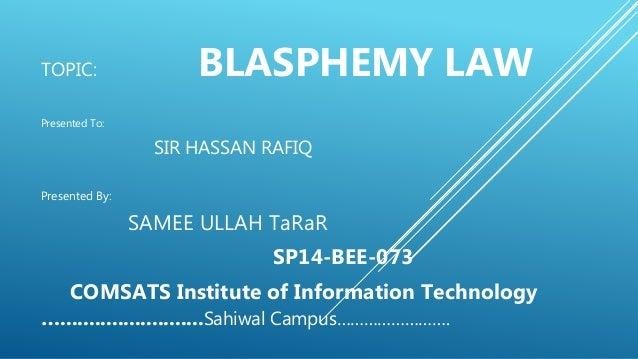 what is blasphemy