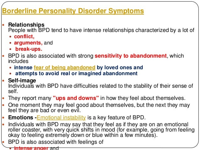 Relationships and Borderline Personality Disorder
