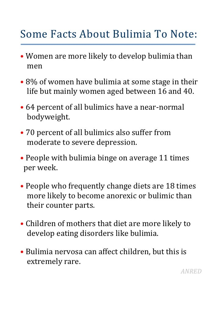 5. Some Facts About Bulimia ...