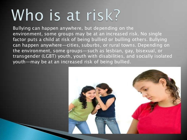What is bullying Slide 3
