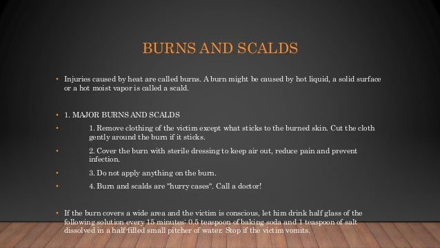 What is burn and scalds