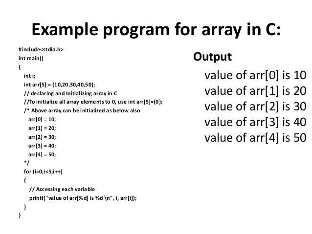 how to make an array of doubles in c