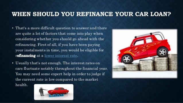 Best car loan refinancing rates