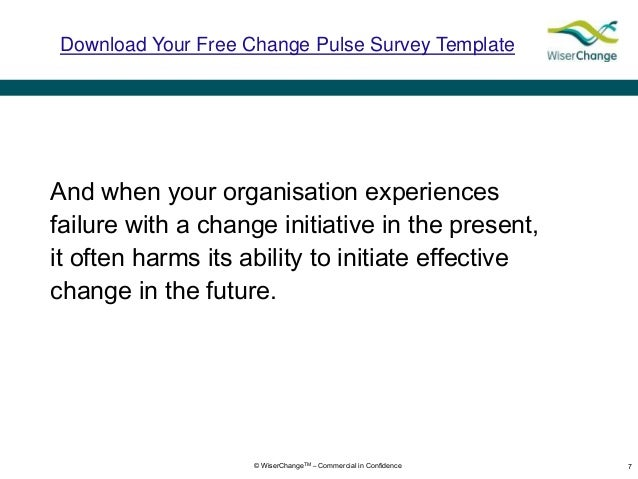 describe how you will evaluate the success or failure of the planned change Leadership teams that fail to plan for the human side of change often find   executive teams that work well together are best positioned for success   internal audiences, describing the pending change in terms that matter to the  individuals  can assess organizational readiness to change, bring major  problems to the.