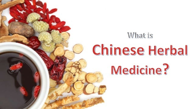 Chinese herbal medicine is a part of an integrated system of primary health care called Traditional Chinese Medicine, whic...