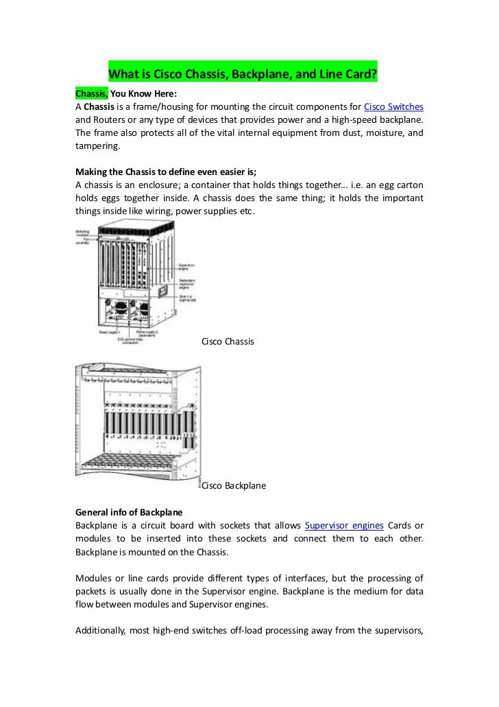 what is cisco chassis backplane and line card rh slideshare net