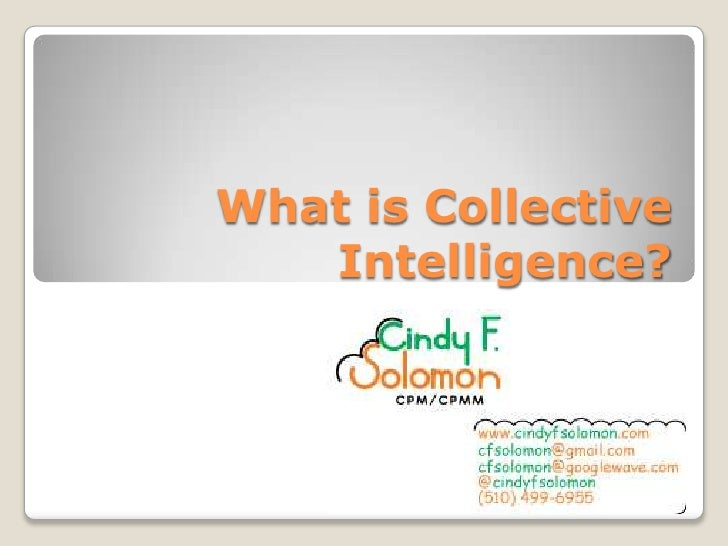 What is Collective Intelligence?<br />