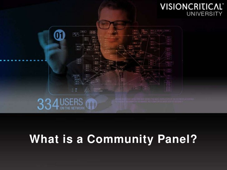 What is a Community Panel?