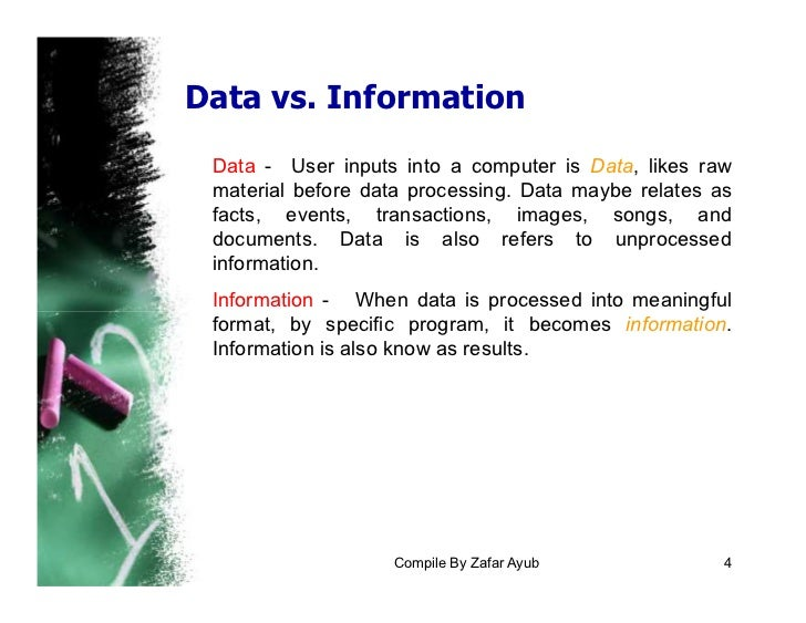 information vs data processing Chapter 37 reviewmanagement information systemsinformation (data) systems vs data processing systemsdata processing systems is simply one, which records day-to-day transactions, which take place an information system is one, which uses this data.