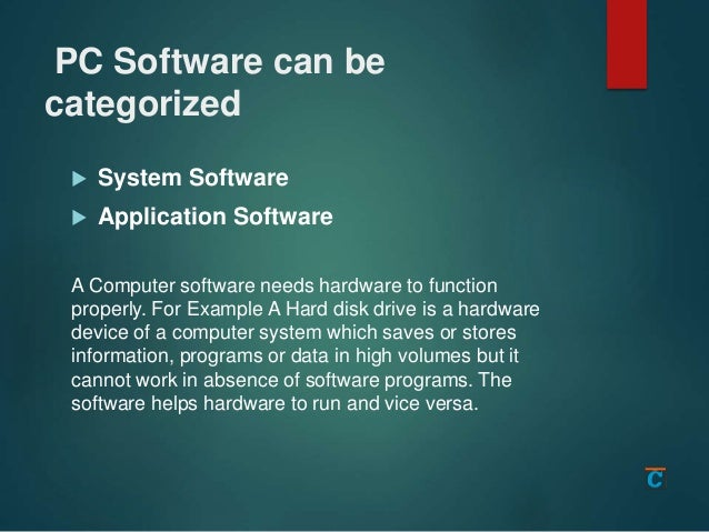 What is computer hardware and software Slide 3