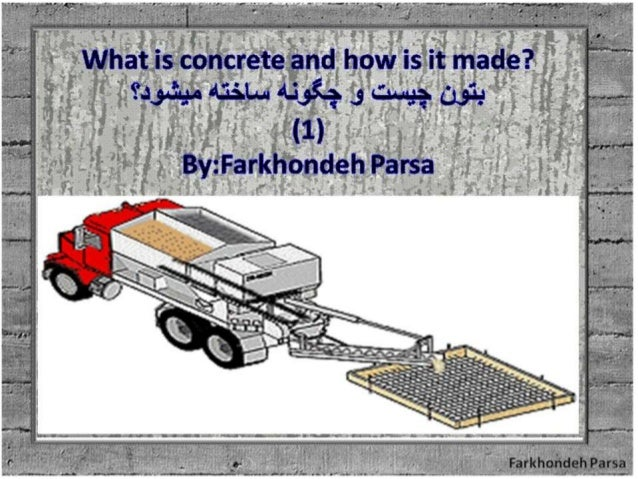 What is concrete and how is it made?-1