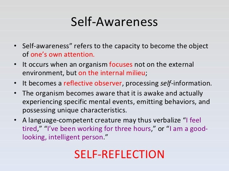 self awareness and self control essay Free essay: title self-awareness and the locus of the self-knowledge development: a comparison study to investigate developmental sequences using.