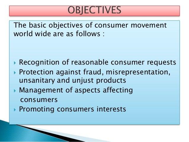 Consumer movement and consumerism