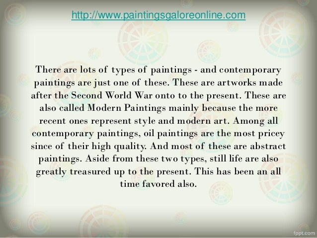 What is Contemporary Painting