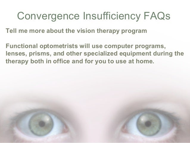 What Is Convergence Insufficiency
