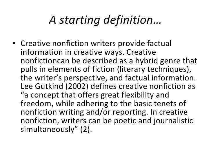 The Purpose Of Creative Writing