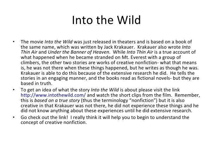 Creative non-fiction writing exercises