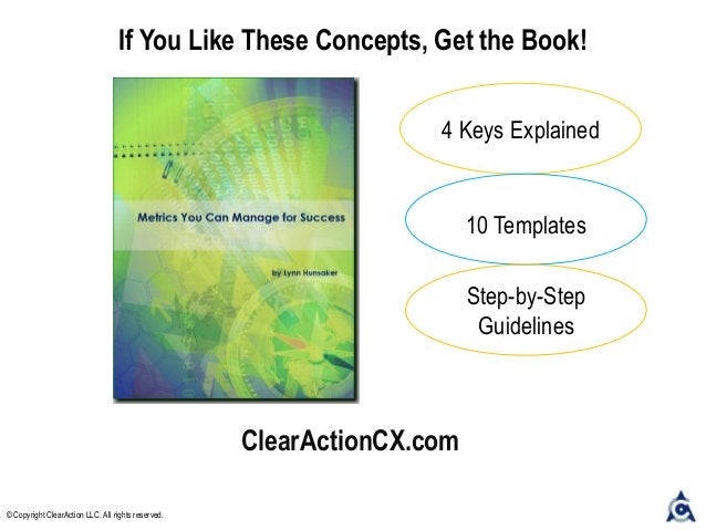 ClearActionCX.com If You Like These Concepts, Get the Book! 4 Keys Explained 10 Templates Step-by-Step Guidelines © Copyri...