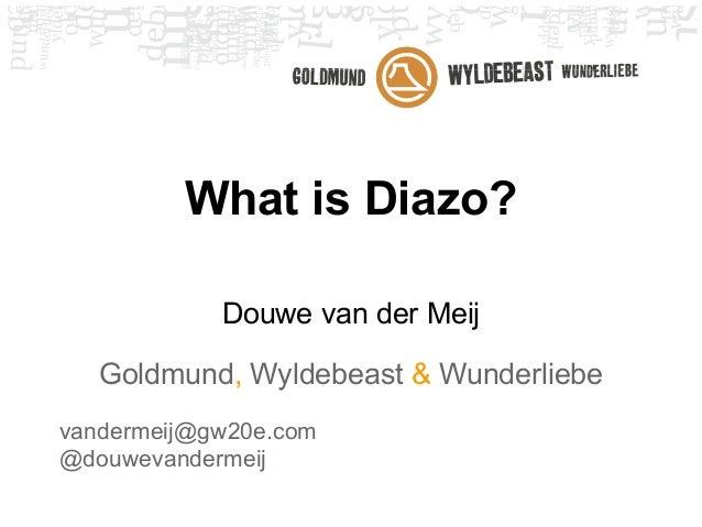 What is Diazo?            Douwe van der Meij   Goldmund, Wyldebeast & Wunderliebevandermeij@gw20e.com@douwevandermeij