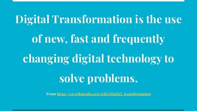 What is Digital Transformation Slide 2