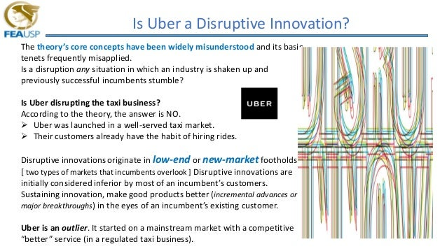 Is Uber a Disruptive Innovation? The theory's core concepts have been widely misunderstood and its basic tenets frequently...