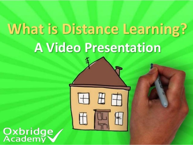 What is Distance Learning?  A Video Presentation