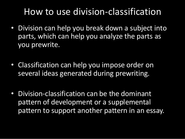 Friends classification division essay