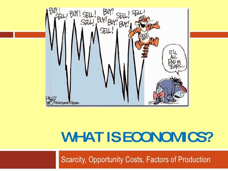 WHAT IS ECONOMICS? Scarcity, Opportunity Costs, Factors of Production