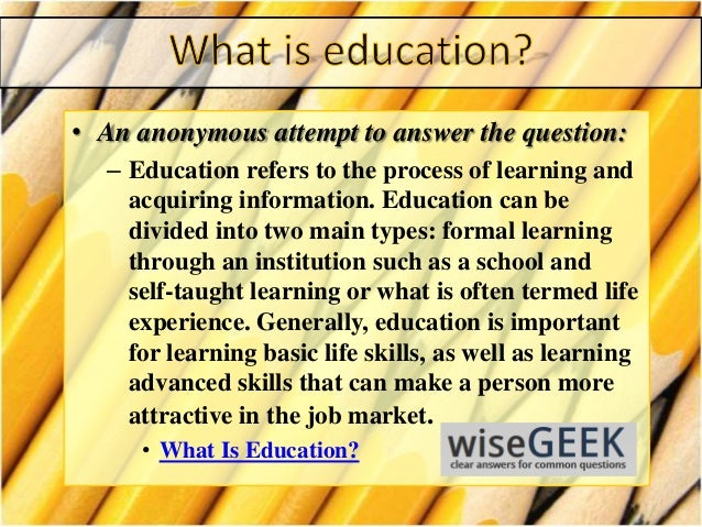 defination of education