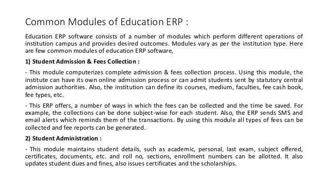 What is education ERP?