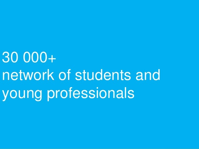 30 000+ network of students and young professionals