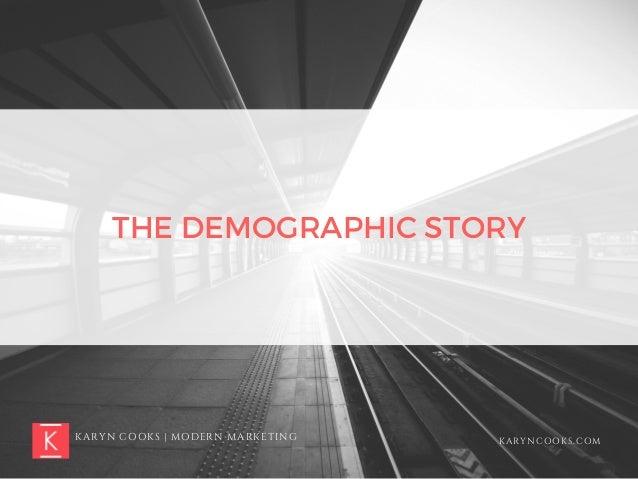 KARYN COOKS | MODERN MARKETING KARYNCOOKS.COM THE DEMOGRAPHIC STORY