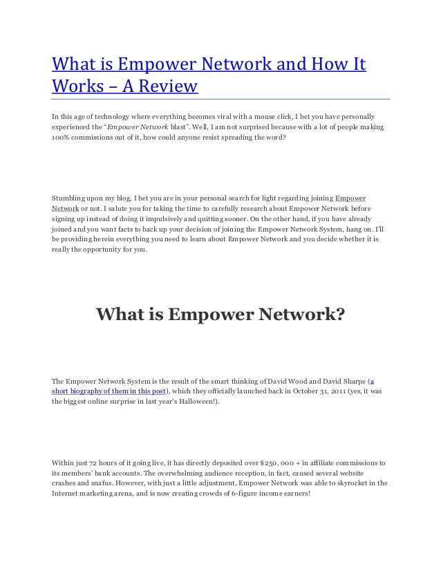 What is Empower Network and How ItWorks – A ReviewIn this age of technology where everything becomes viral with a mouse cl...