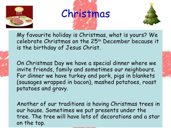 Our Christmas essay contest