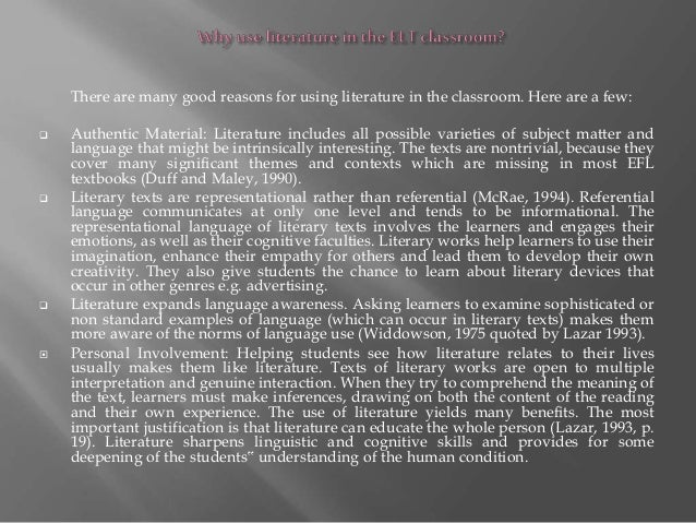 What is English literature based lessons?