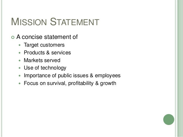 16 OUR MISSION STATEMENT