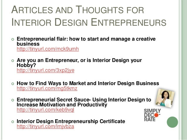 Entrepreneurship For Interior Designers