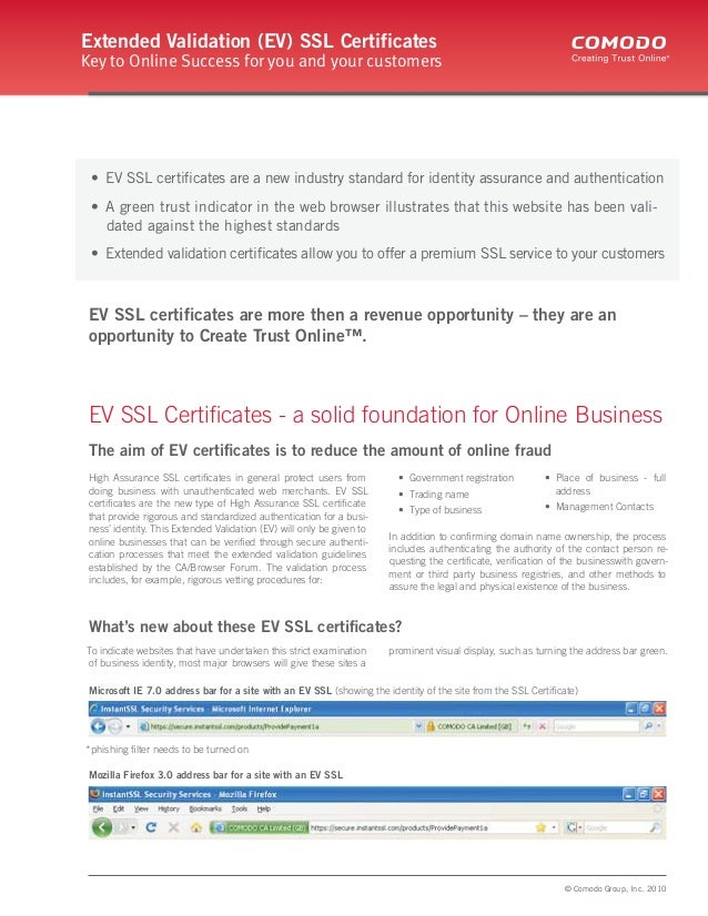 Extended Validation Ssl Certificateev Ssl