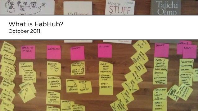 What is FabHub?October 2011.