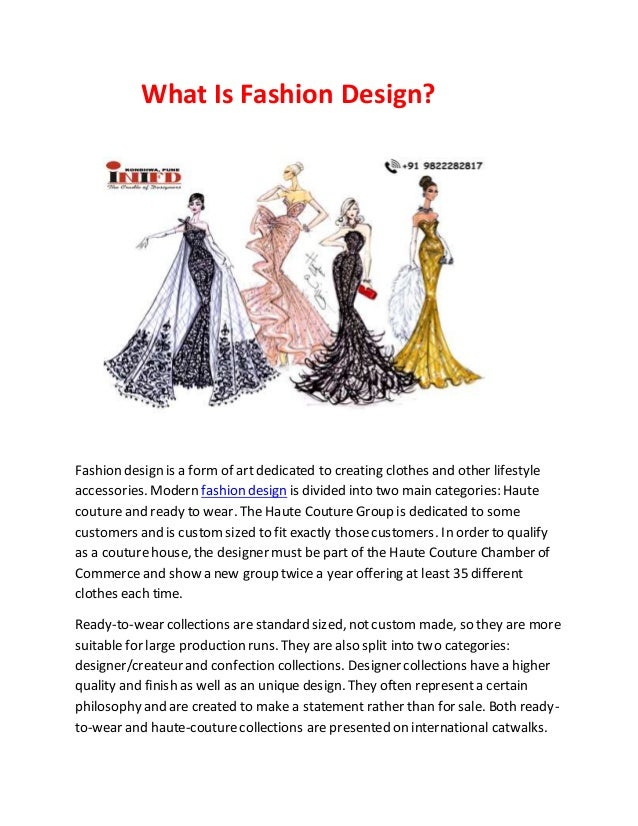 What Is Fashion Design