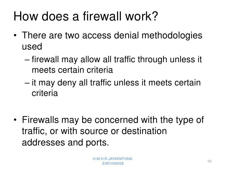 how does a firewall work pdf