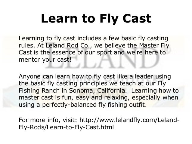 What is fly casting how to fly cast learn to fly cast for Learn how to fly fish