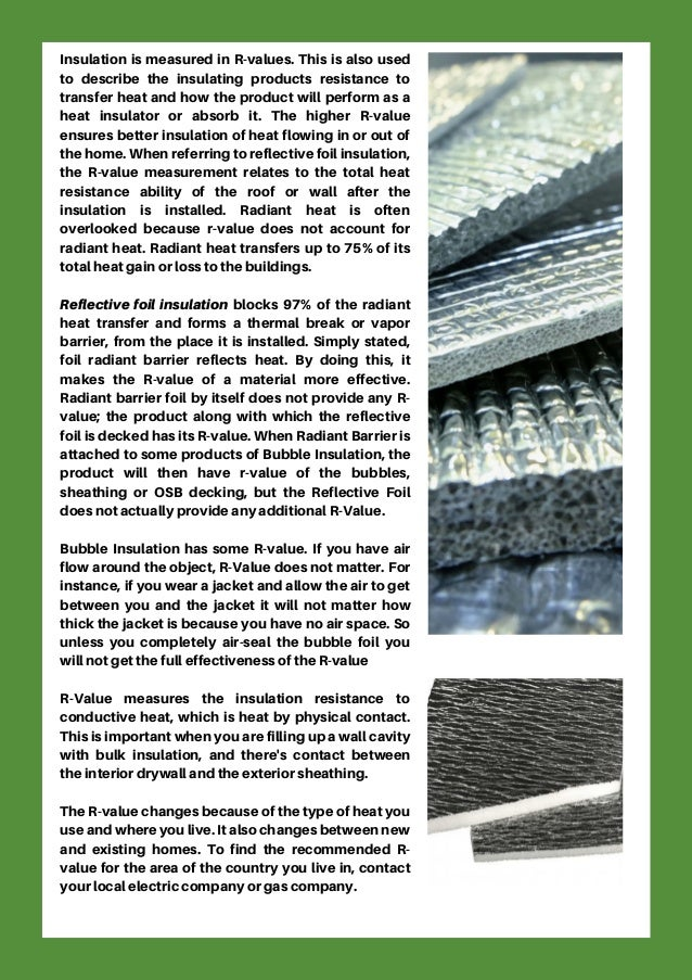 What Is Foil Insulation R Value