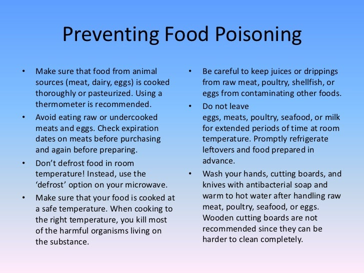 What Medicine To Take For Food Poisoning
