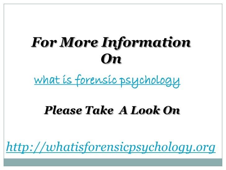 Forensic psychology essay