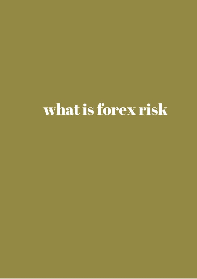 what is forex risk